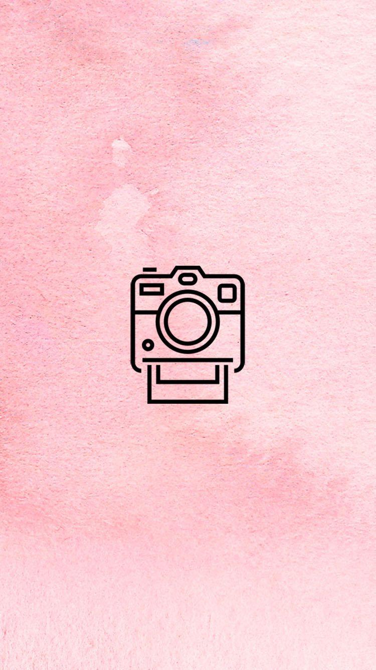 Pink Instagram Logo : instagram, INSTAGRAM, STORY, COVER, POLAROID, CAMERA, BLUSH, WWW.INSTAGRAM.COM/JORDANRENIE, Instagram, Wallpaper,, Highlight, Icons,
