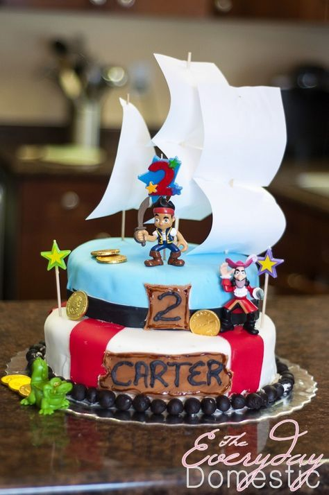 Jake and The Neverland Pirates Cake  Pirate birthday cake, Birthday ...