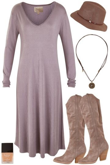 Outfit of the Day: Celebrate Monday in a chic, knit dress! Add a wool hat and be weather-ready.