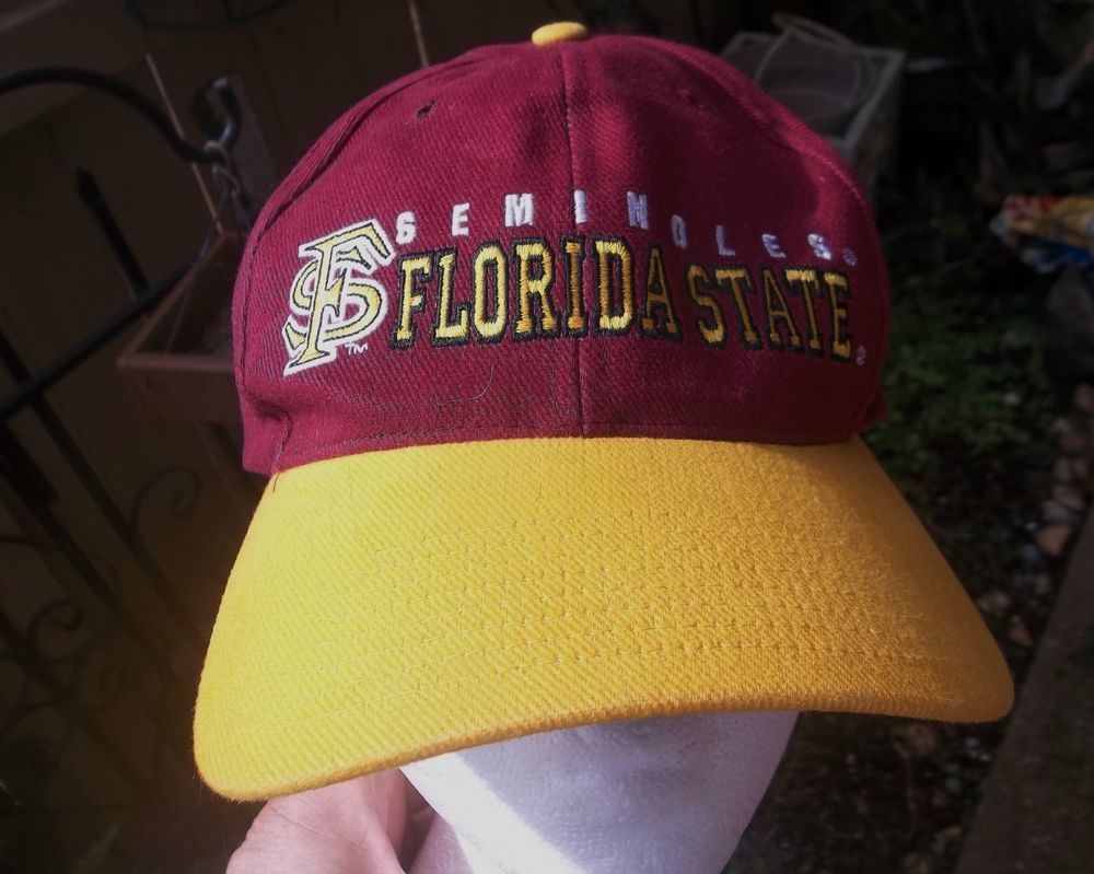 d2e7daa6df30f Florida State Seminoles Hat Medium Large Size Adjustable Cap M L NCAA   FloridaStateSeminoles