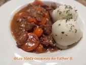 Photo of The cooked dishes of Esther B: Cubes of beef at Seven Up-Les…