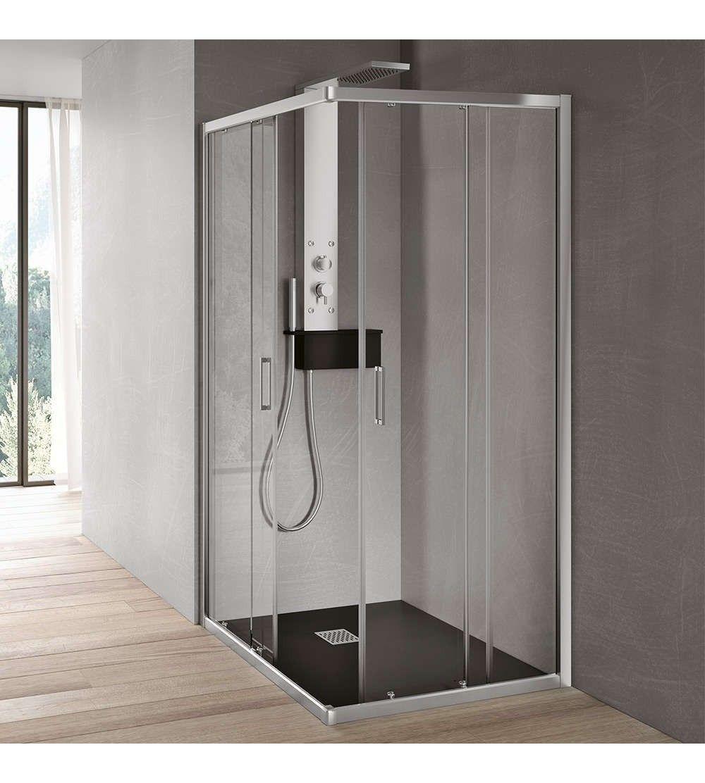 Box doccia angolare con 2 ante scorrevoli Hafro Geromin