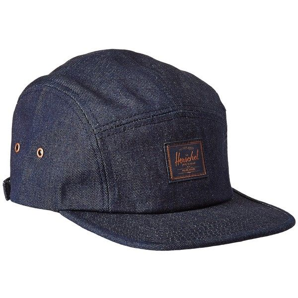 Glendale Classic (Raw Denim) Caps ( 35) ❤ liked on Polyvore featuring  accessories 5af7b3b703f9