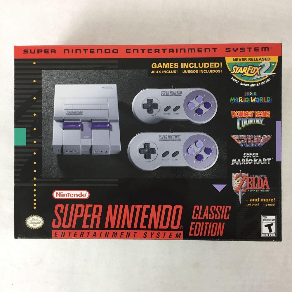super nes classic edition preloaded 20 games (brand new
