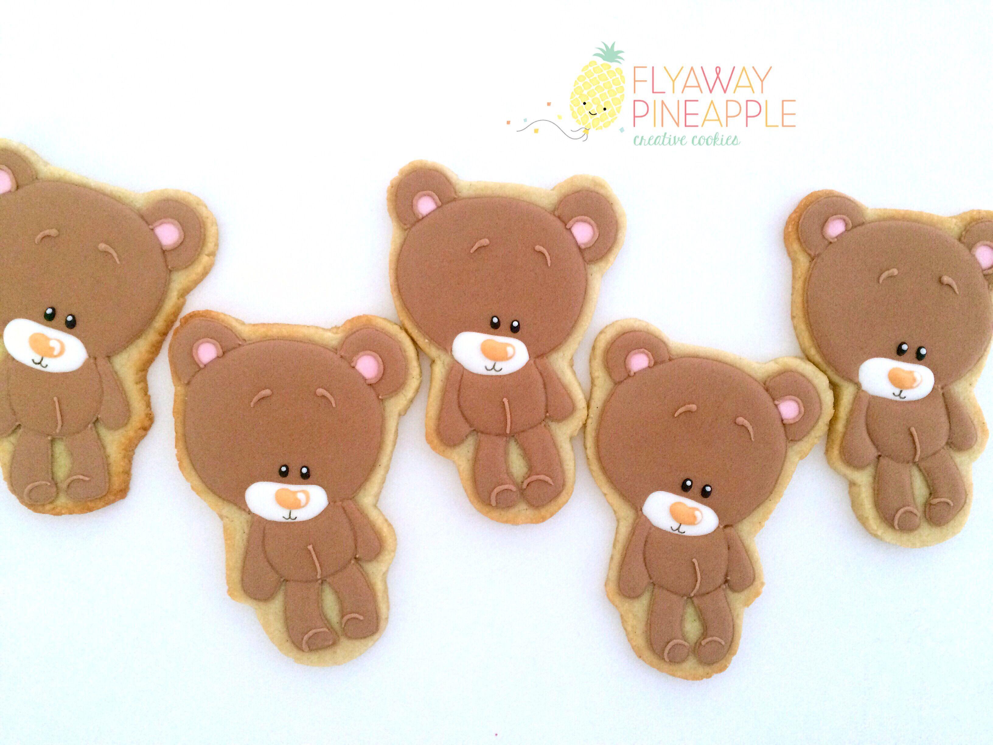 Teddy bear cookies bear cookies baby shower cookies