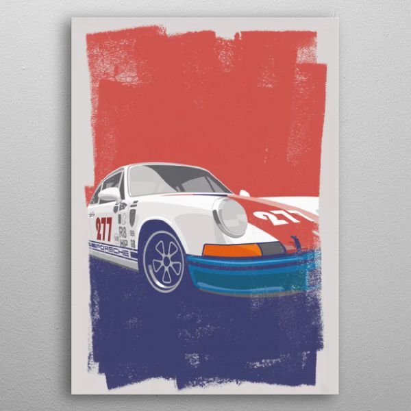 Porsche 911T 1971 Say goodbye to paper posters and welcome our 21st century wall art canvas – uni