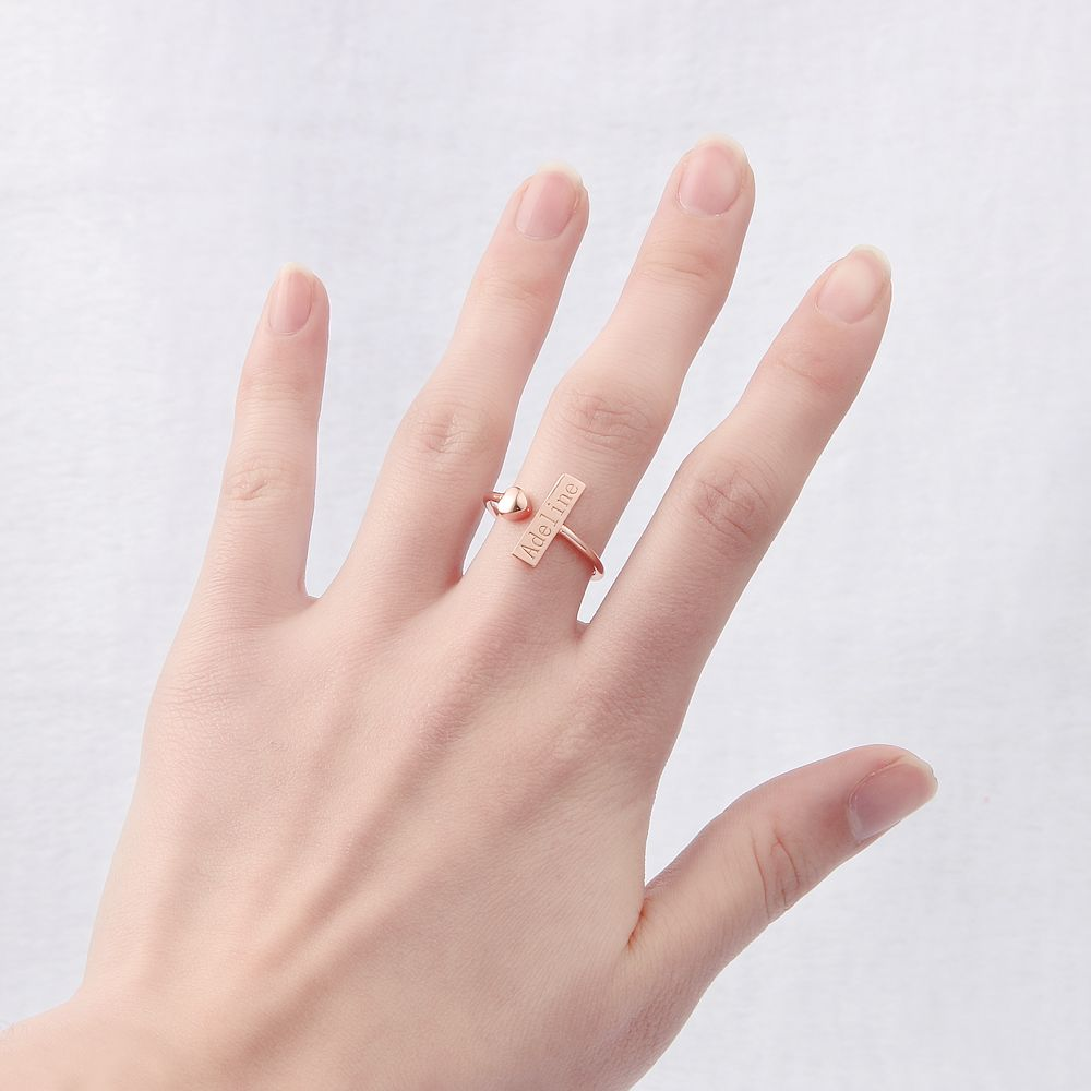 Infinity Love Heart Adjustable Engraved Ring infinity ring, infinity ...