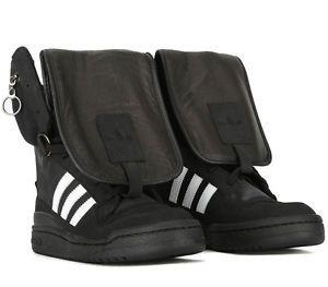 dettagli adidas js portano scarpe da uomo con testa d'orso d'oro glitter