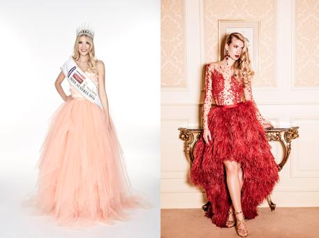 Miss Austria 2016 Dragana Stankovic in Roben der ...