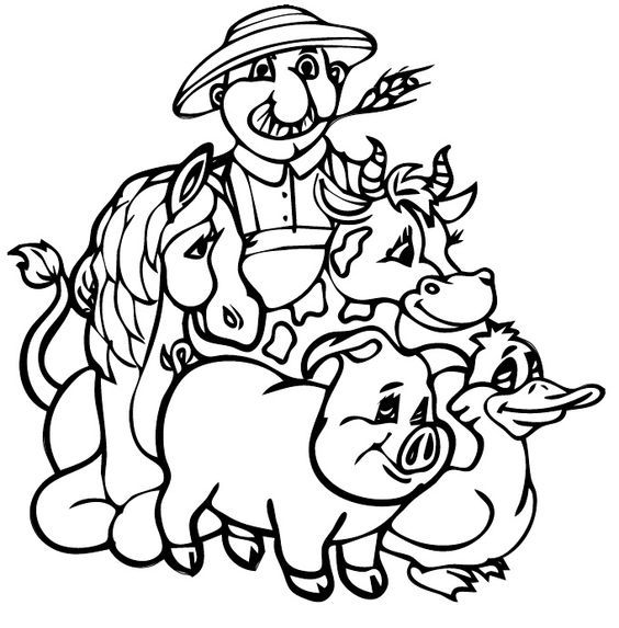 Image result for old macdonald had a farm colouring sheets