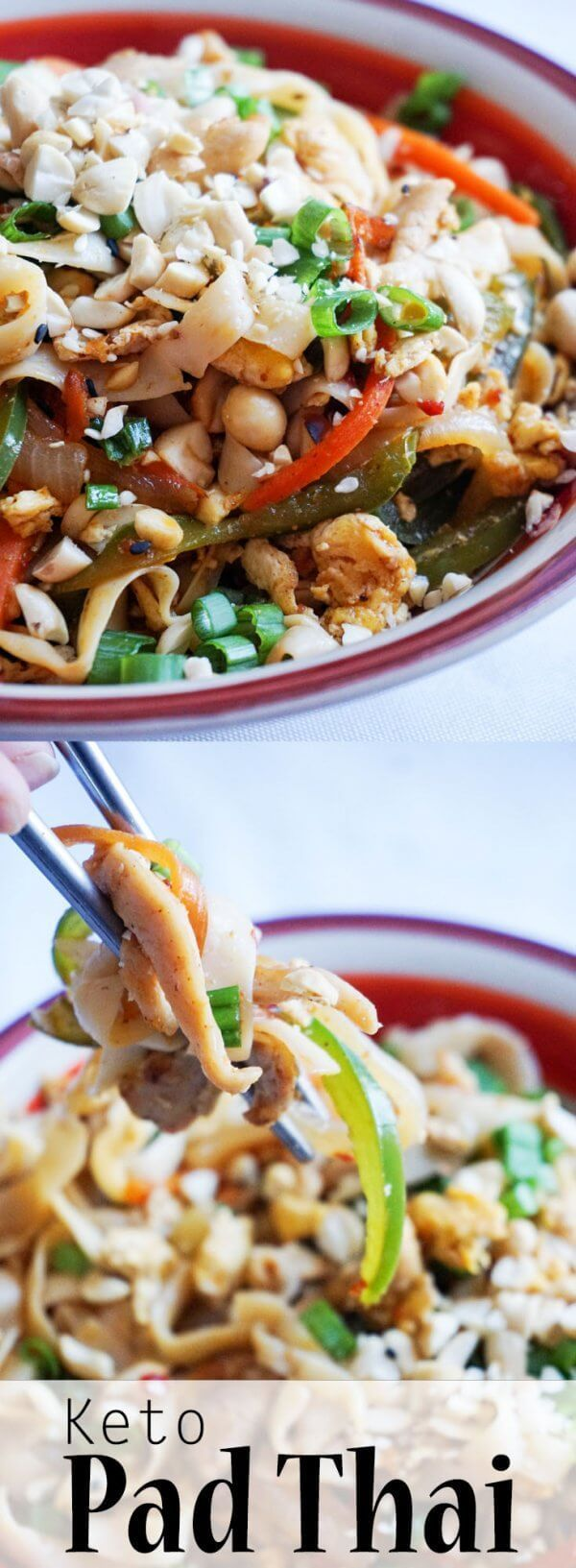 keto pad thai | recipe | recipes, keto diet recipes