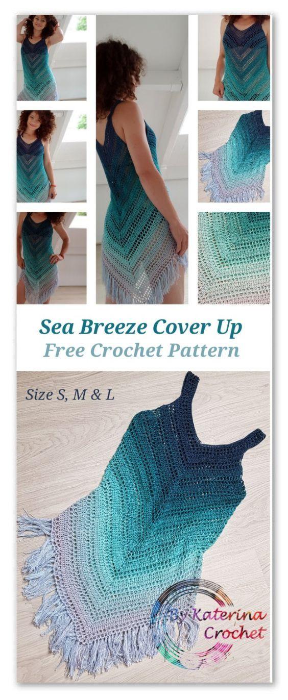 Sea Breeze Cover Up Crochet Pattern #crochetpatterns