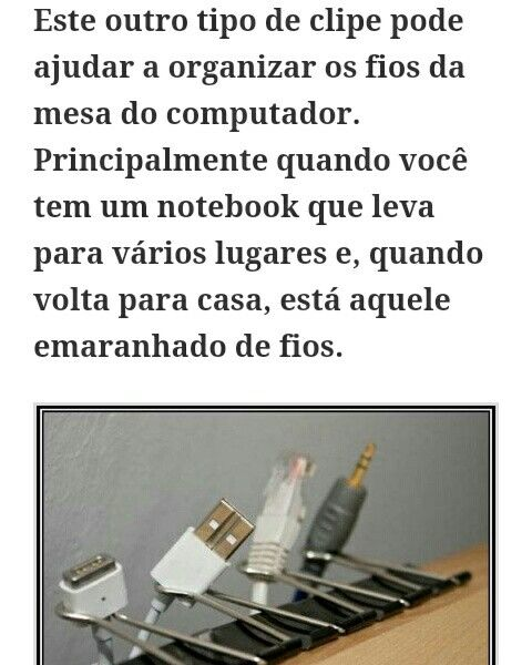 Organização para fios