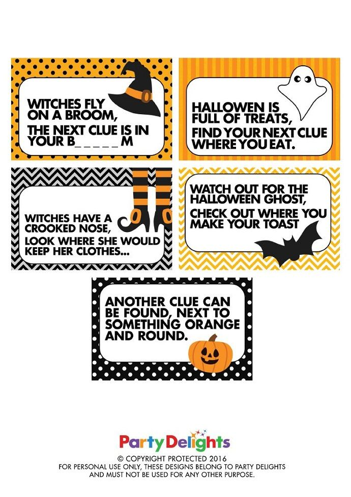 How to Do a Halloween Treasure Hunt Halloween scavenger