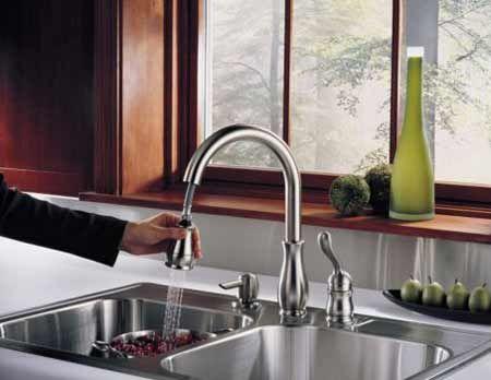 Kitchen Faucet With Soap Dispenser 3