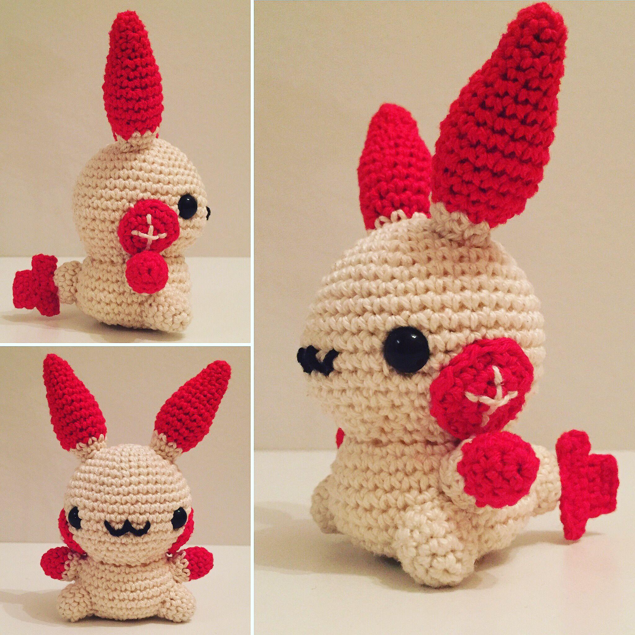 Pokemon Plusle häkeln / crochet | Crochet pokemon | Pinterest
