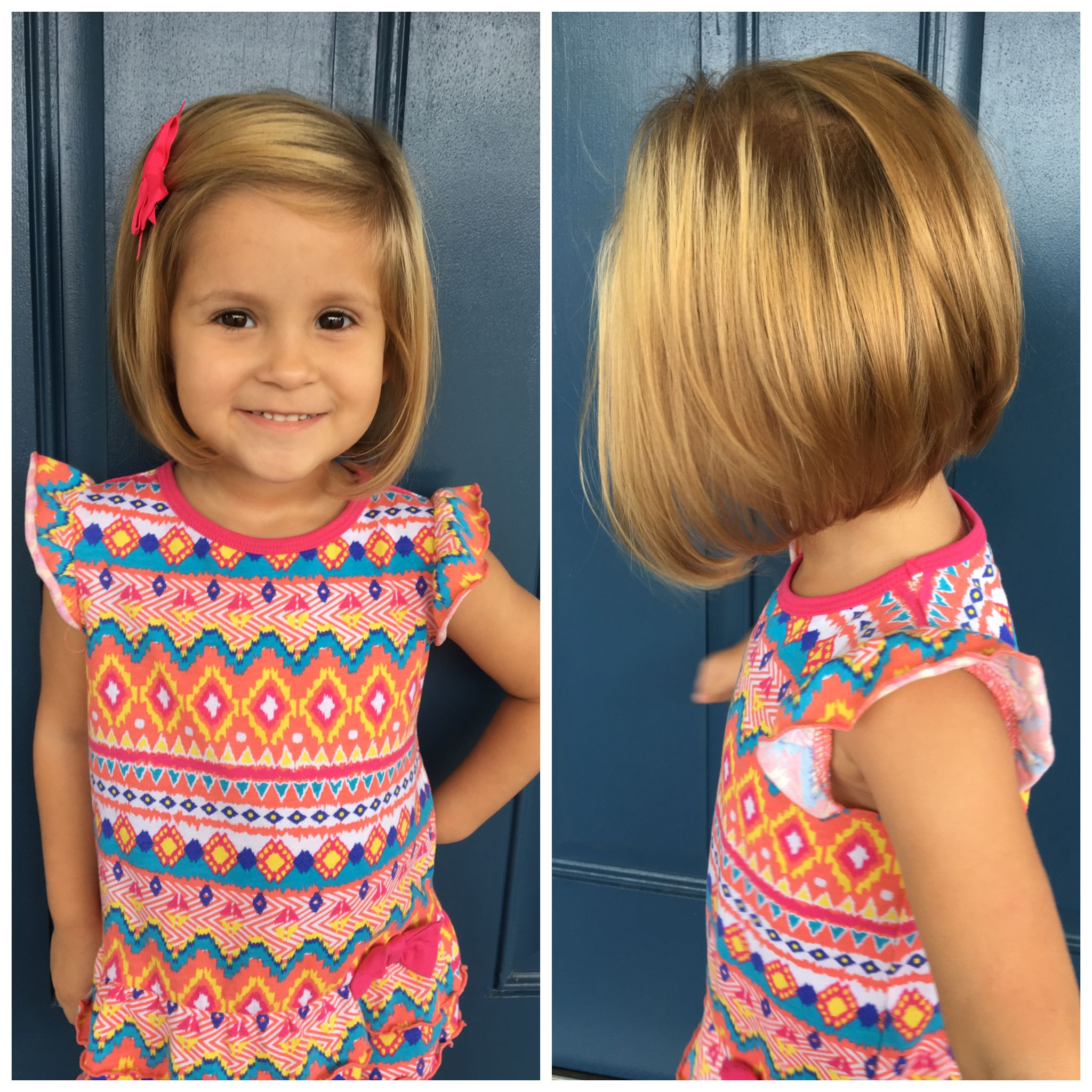 Toddler stacked bob haircut  Little girl haircuts, Toddler girl