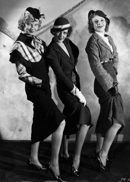 Una Merkel, Ruby Keeler and Ginger Rogers in42nd Street(1933)
