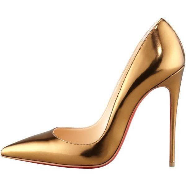the latest 149e8 d7b09 Christian Louboutin So Kate Mirrored Leather Red Sole Pump ...