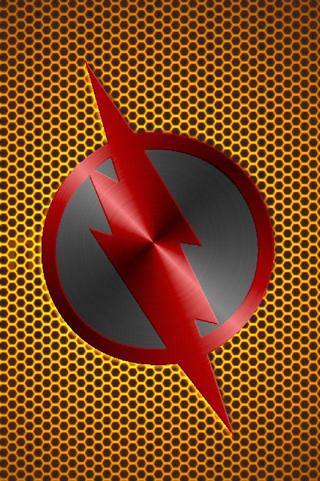 Metalic Reverse Flash Background Reverse Flash Flash Wallpaper Flash Logo
