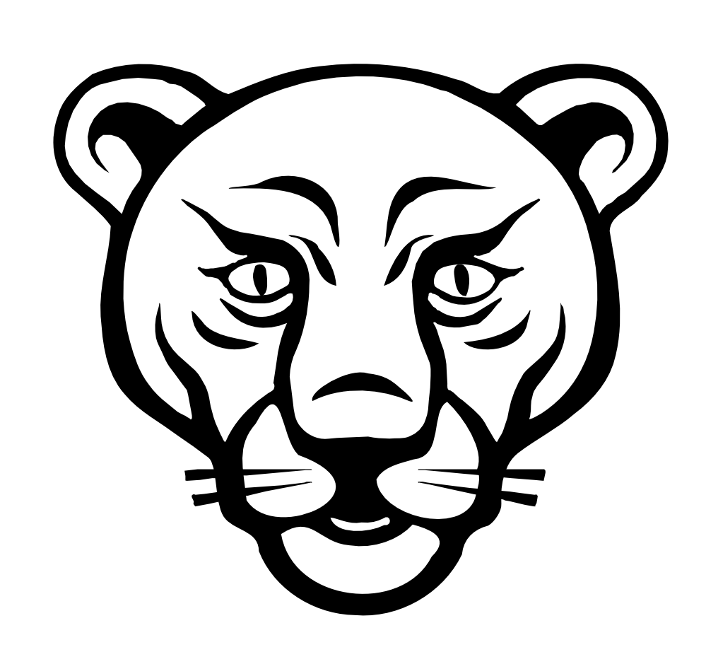 Lion clipart black and white lion face black white line for Black line coloring pages