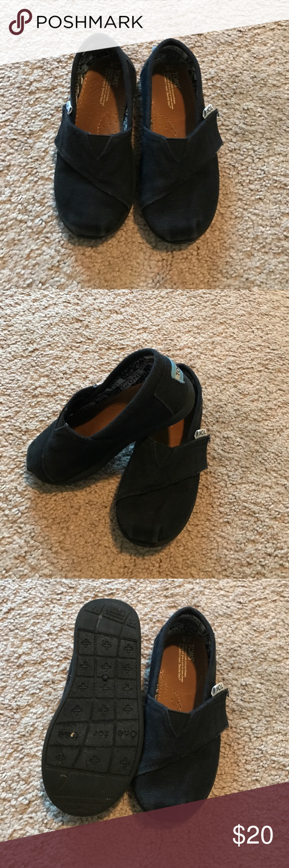 Kids Black Toms Worn a couple times TOMS Shoes Sneakers