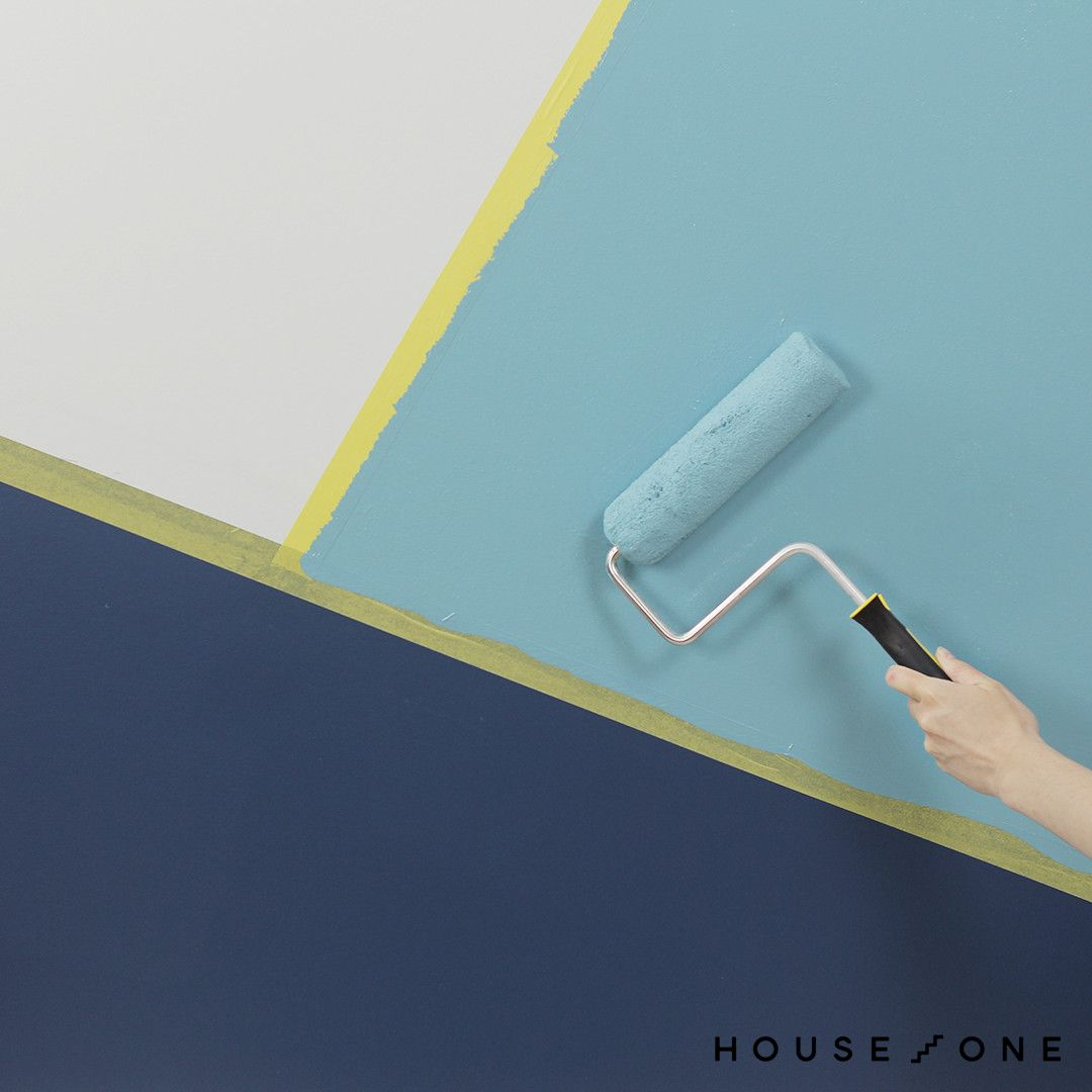 How To Paint A Geometric Accent Wall Wall Paint Patterns Accent Wall Paint Accent Wall