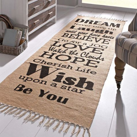 Teppich Teppich Pinterest Jute, Teppiche und Schriftzug - teppich läufer küche