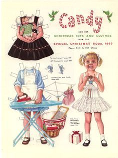 """""""Candy and Her Christmas Toys and Clothes From the Speigel Christmas Book, 1963""""  by Pat Stall, 1988:  Page 1 (of 2)"""