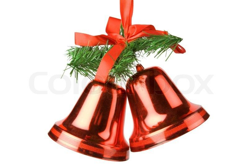 Christmas bells decoration isolated on white background Stock ...