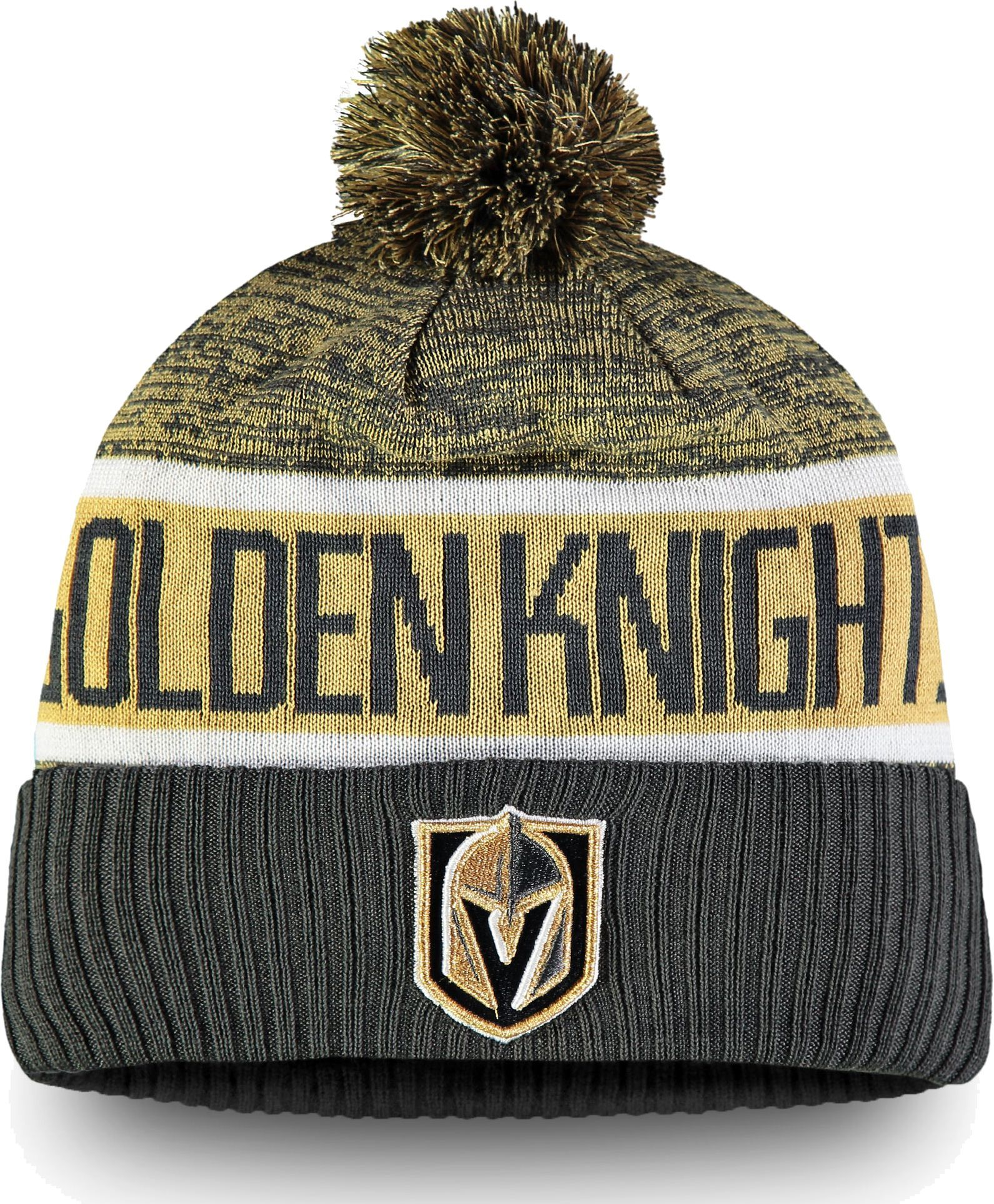 2eff23a28ab NHL Men s Vegas Golden Knights Authentic Pro Rinkside Goalie Grey Cuffed  Knit Beanie