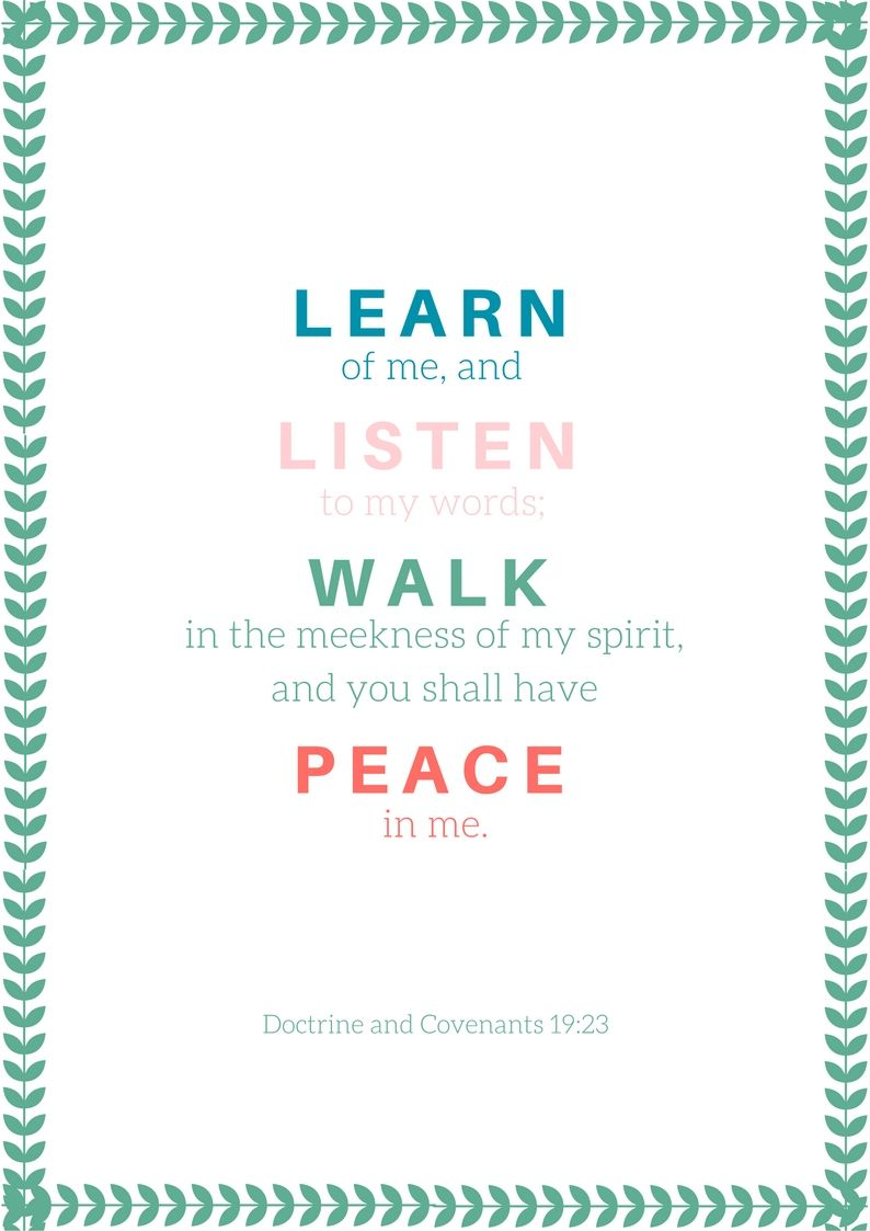 2018 Lds Youth Theme Lds Scripture Quotes 2018 Peace In Christ In