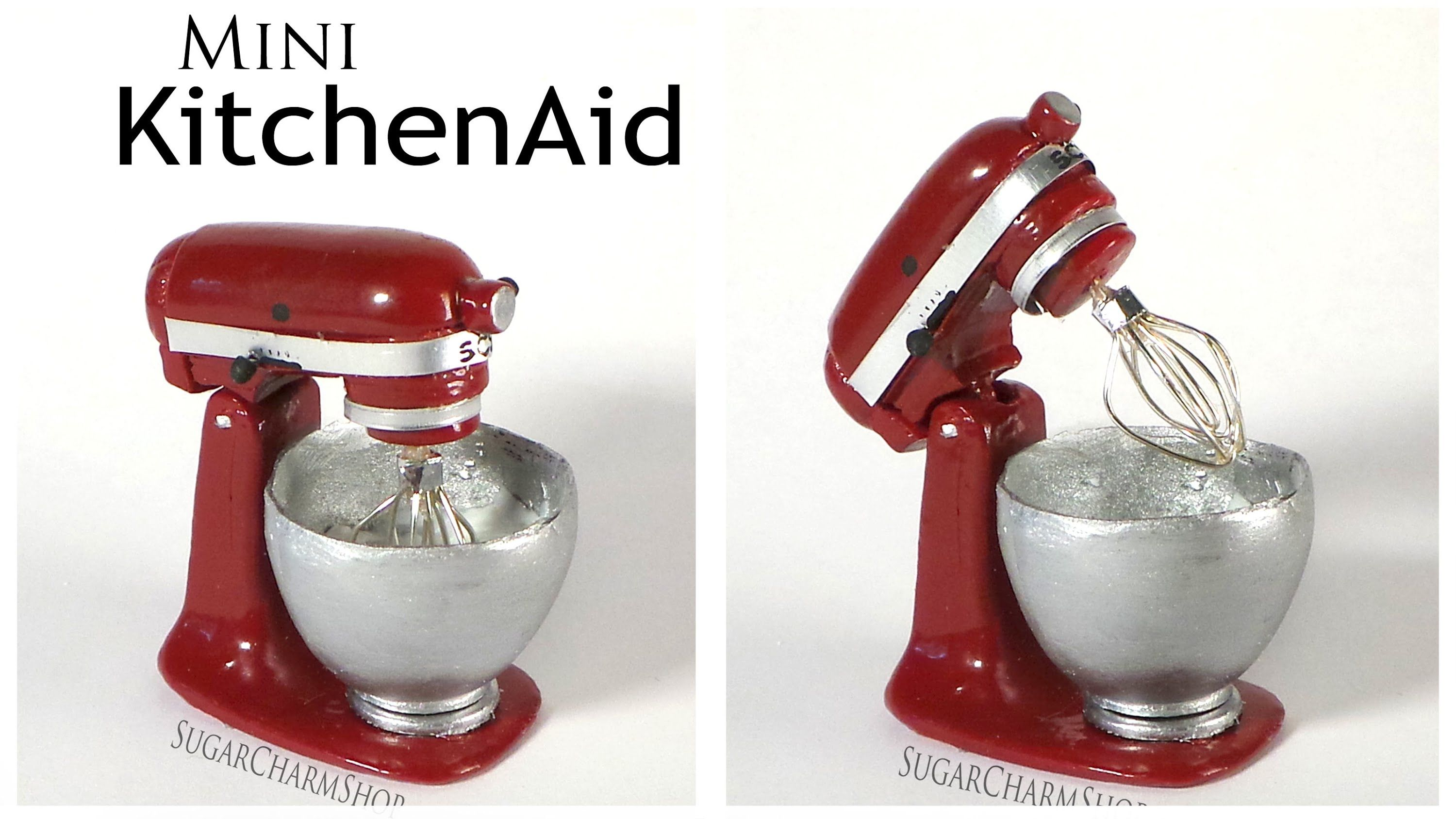 Miniature KitchenAid / Stand Mixer - Polymer Clay Tutorial #miniaturekitchen