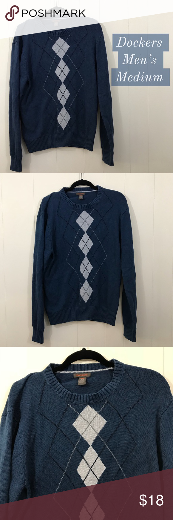Men's Dockers Lightweight Sweater Blue Men's Dockers lightweight ...