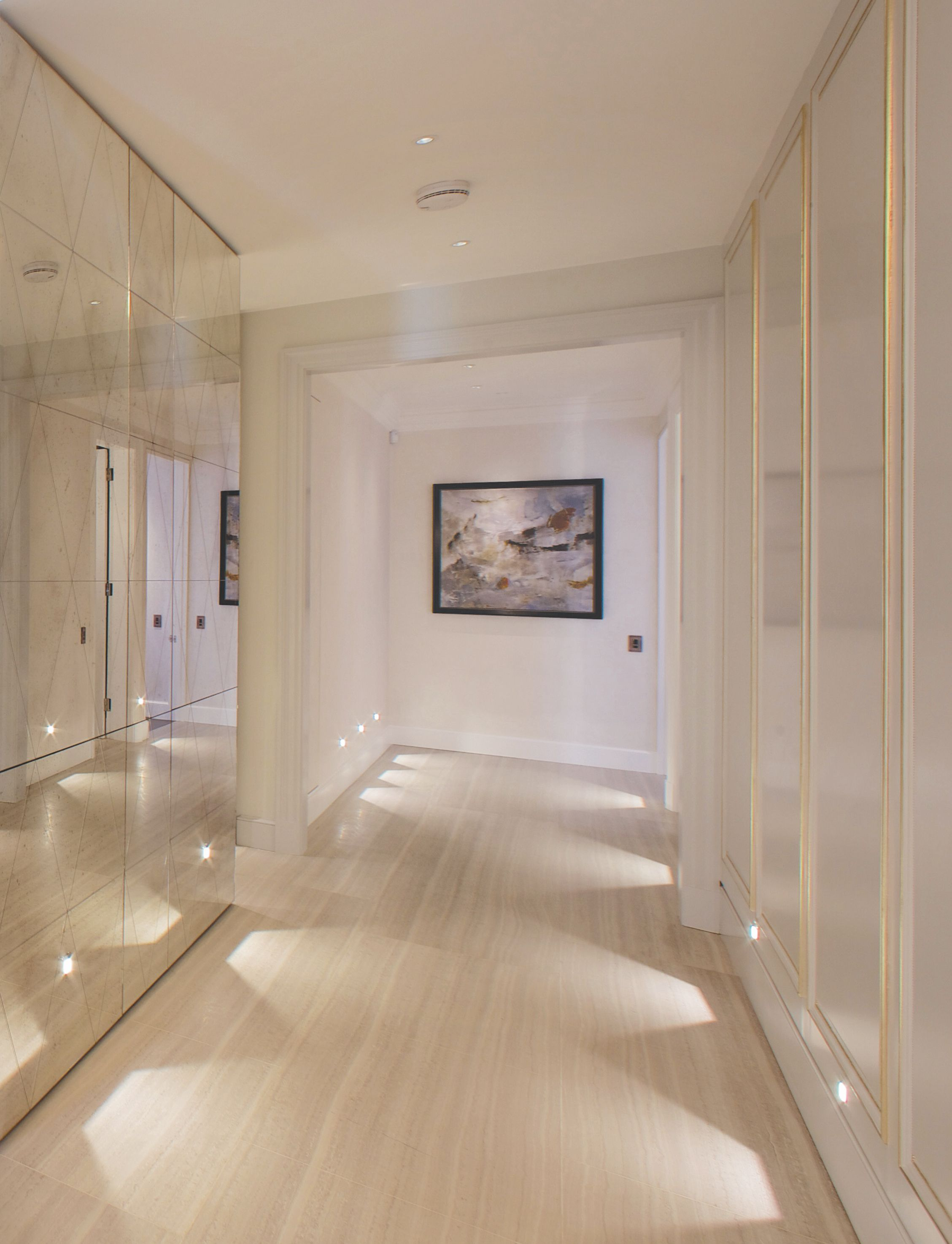 Antique Mirrors And Statement Floor Level Lighting Add A