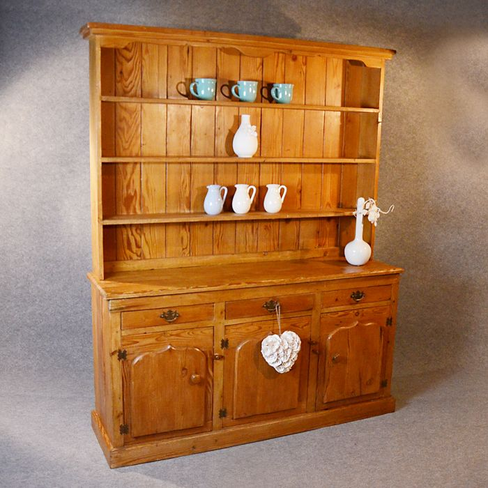 Antique Victorian Pitch Pine Dresser Welsh Country Kitchen Display From Englishantiques On Ruby Lane