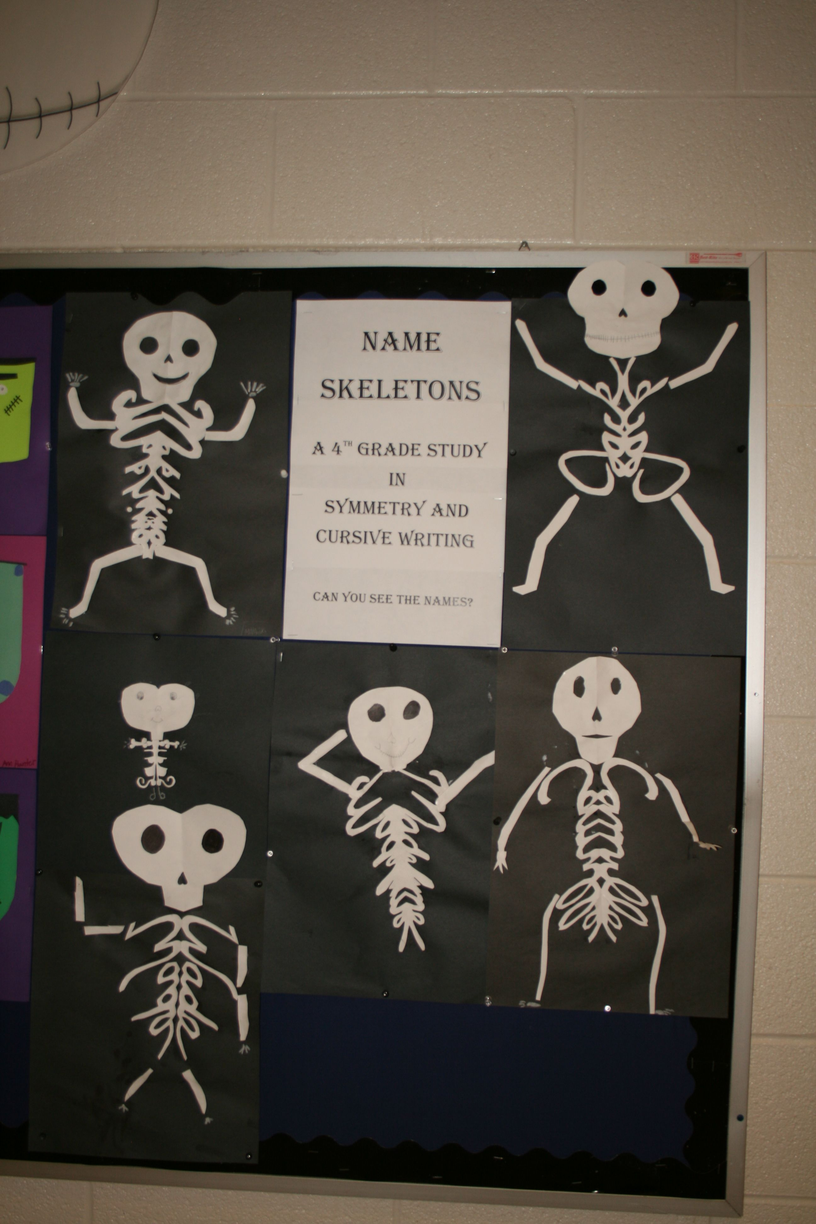 Our 4th Graders Made Name Skeletons Using Symmetry And