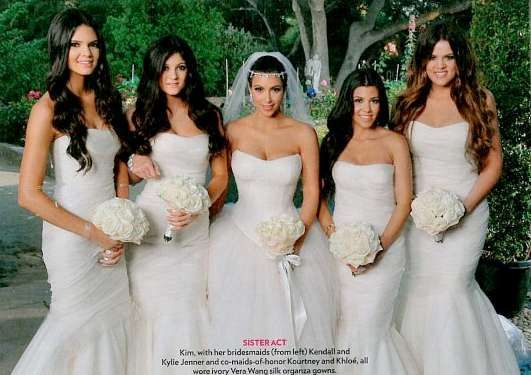 white bridesmaids dresses thanks to Leslie that's what I'll have with hydrangea bouquets of purple and blue! Great idea sis!