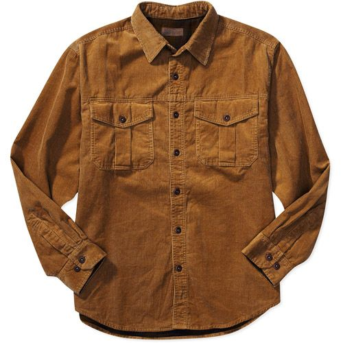 X-Future Mens Warm Corduroy Long Sleeve Button Up Chest Pocket Shirts