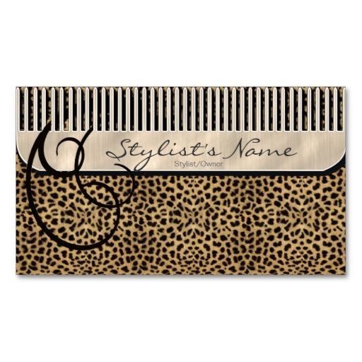 Comb and curls leopard id319 appointment card card templates comb and curls leopard business card templates i love this design it is available for customization or ready to buy as is all you need is to add your colourmoves
