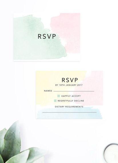 pastel wedding rsvp