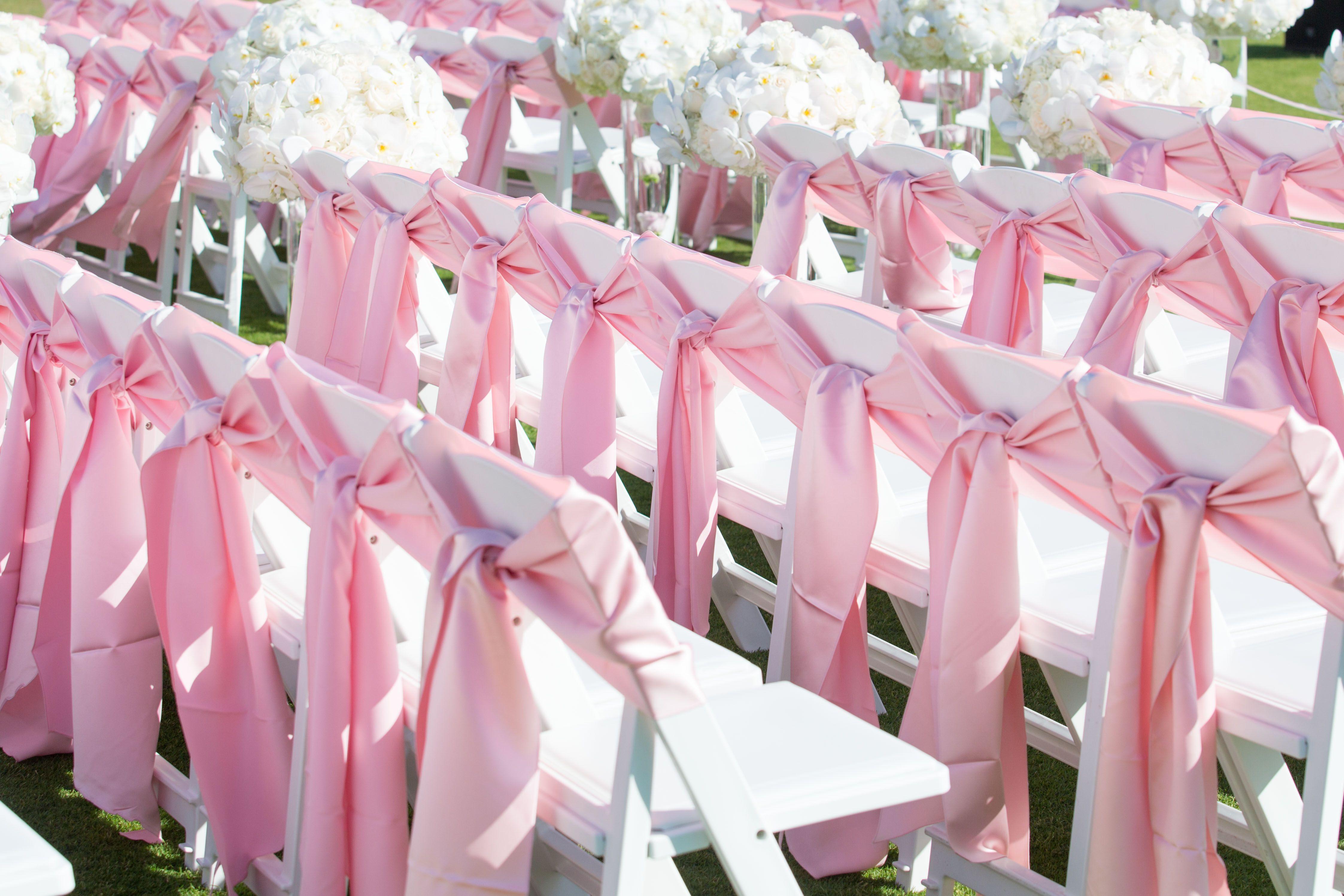 Pink Lamour Chair Ties My Fairmont Kea Lani Wedding
