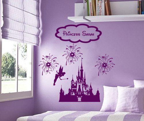 Disney Personalized Castle Fireworks Tinkerbell Fairy Vinyl Wall Decall  Sticker Room Decor. $23.99, Via