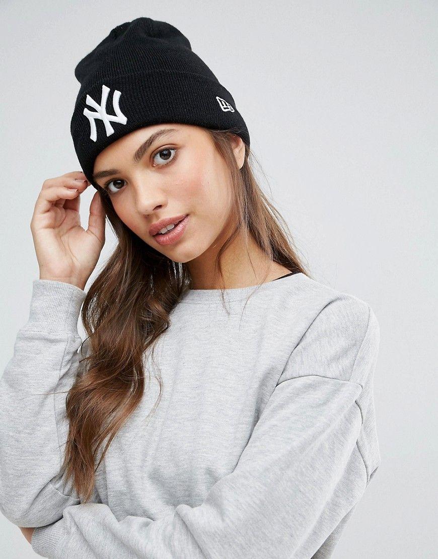 New Era Essential Cuff Neyyan Beanie Hat Black Beanie Outfit Yankee Hat Outfit Hat Outfit Winter