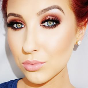 makeup for redheads with blue eyes  red hair makeup