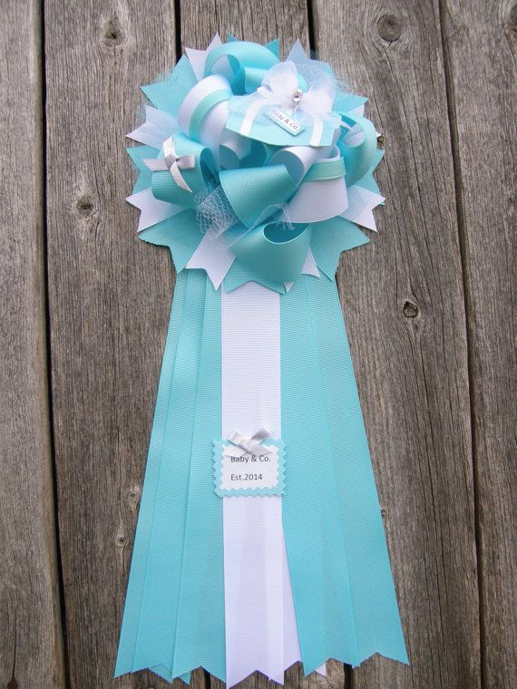 Baby Shower Blue Baby Shower Mum By Bonbow On Etsy