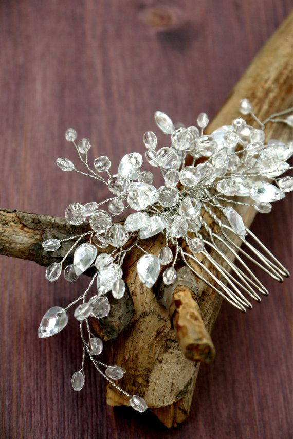 Bridal Headpiece Pearl Bridal Hair Piece by liabridalcouture