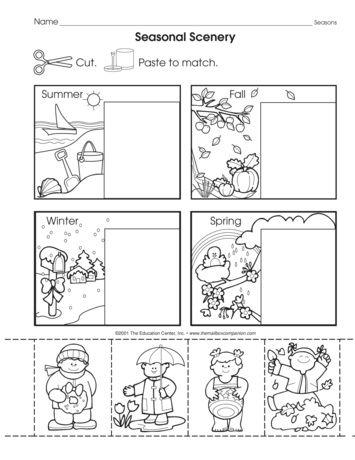 Seasonal Scenery Lesson Plans The Mailbox Seasons Worksheets Preschool Weather Seasons Preschool