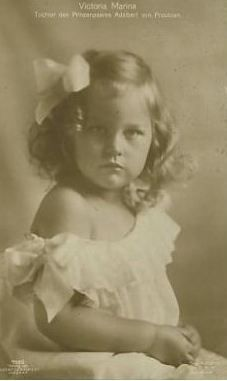 Her Royal Highness Princess Viktoria Marina of Prussia (1917-1981), second daughter of Prince Adalbert of Prussia
