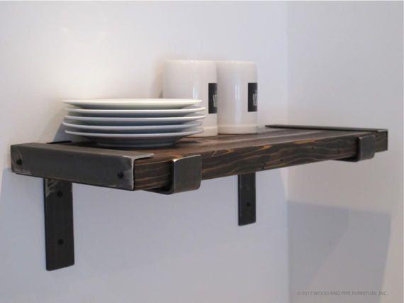 Industrial Kitchen Shelves Modern Industrial Shelves Rustic